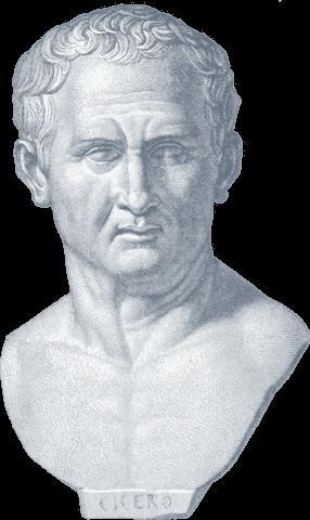 Engraving of Marcus Tullius Cicero